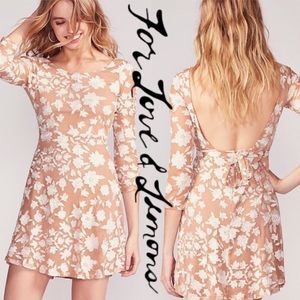 For Love and Lemons | Temecula Nude Lace Dress